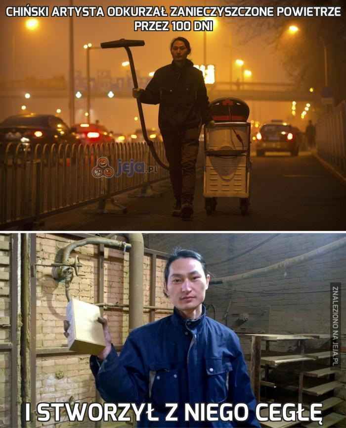 Chiński artysta odkurzał zanieczyszczone powietrze przez 100 dni