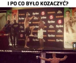Karateka się znalazł
