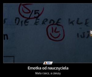 Emotka od nauczyciela