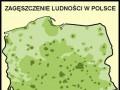 Zagęszczenie ludności w Polsce