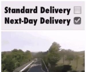 Kiedy coś zamawiasz i wybierasz dostawę na drugi dzień