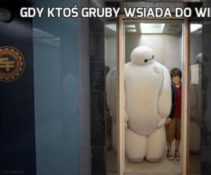 Gdy ktoś gruby wsiada do windy...
