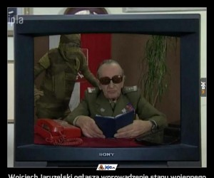Wojciech Jaruzelski ogłasza wprowadzenie stanu wojennego