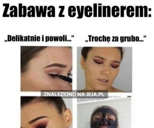 Zabawa z eyelinerem