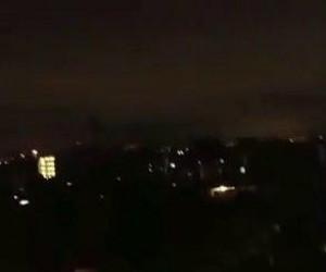 Światła nad Meksykiem po trzęsieniu ziemi