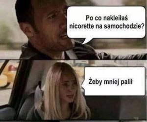 Nicorette na samochodzie?