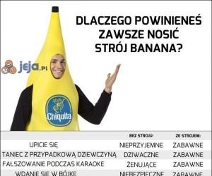 W stroju banana wszystko jest lepsze!
