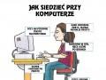 Jak siedzieć przy komputerze