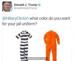 Hilary, jakiego koloru chcesz swój więzienny mundurek?