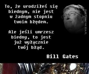 Bill Gates trafia w samo sedno