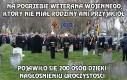 Pogrzeb weterana wojennego, który nie miał rodziny ani przyjaciół