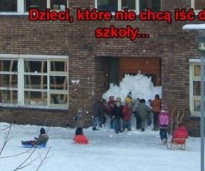 Dzieci, które nie chcą iść do szkoły...