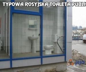 Typowa rosyjska toaleta publiczna