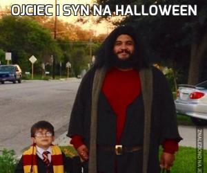 Ojciec i syn na Halloween