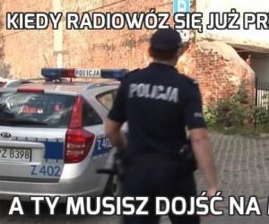 Kiedy radiowóz się już przeteleportował