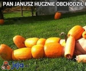 Pan Janusz hucznie obchodził Halloween