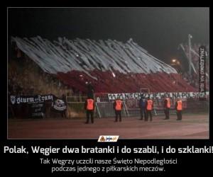 Polak, Węgier dwa bratanki, i do szabli, i do szklanki!