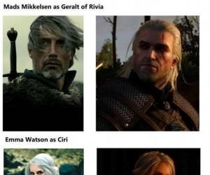 Znani aktorzy jako bohaterowie Wiedźmina 3