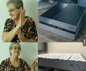 Babcia vs konsola
