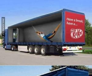 Epickie reklamy na ciężarówkach