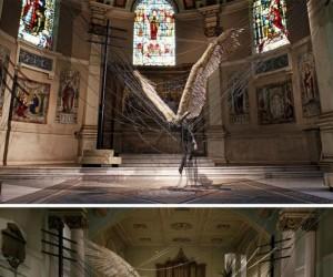 Posąg Lucyfera w Kościele Świętej Trójcy