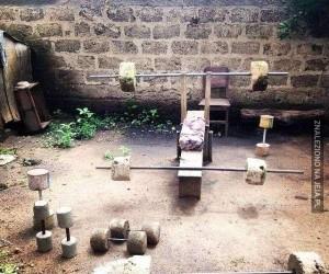 Budżetowa siłownia w ogródku