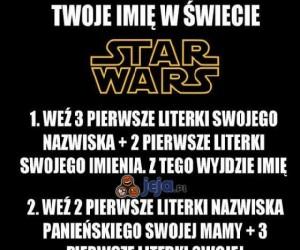 Twoje imię w świecie Star Wars