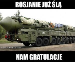 Rosjanie już ślą nam gratulacje