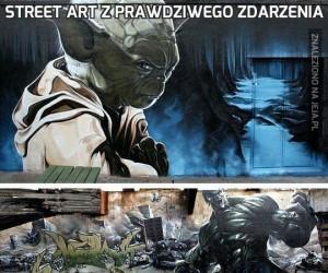 Street art z prawdziwego zdarzenia