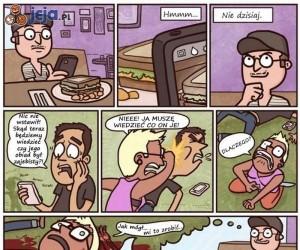 Co myśli człowiek żyjący facebookiem