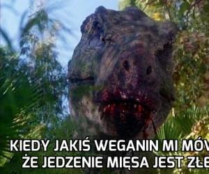 Kiedy jakiś weganin mi mówi, że jedzenie mięsa jest złe