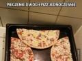 Pieczenie dwóch pizz jednocześnie