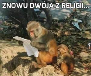 Znowu dwója z religii...