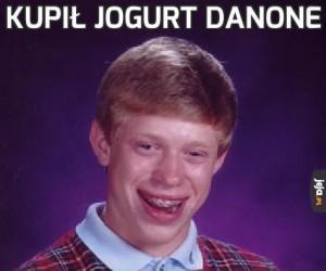 Kupił jogurt Danone