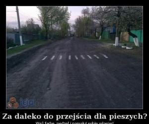 Za daleko do przejścia dla pieszych?