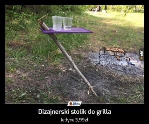 Dizajnerski stolik do grilla
