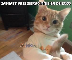Kotek w śpioszkach