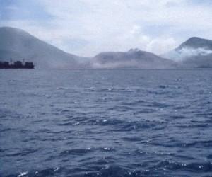 Erupcja wulkanu  - góra Tavurvur