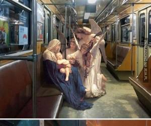 Postacie z klasycznych obrazów przeniesione do świata współczesnego