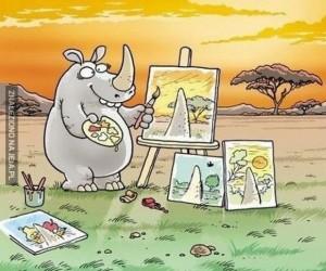 Nosorożec - artysta