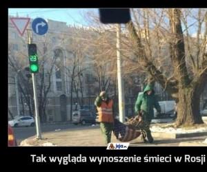 Tak wygląda wynoszenie śmieci w Rosji