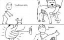 Gdy podnoszę kota...