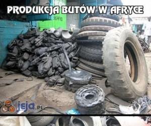 Produkcja butów w Afryce