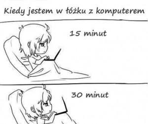 Kiedy jestem w łóżku z komputerem