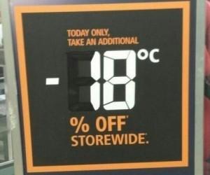 Kiedy w Twoim kraju jest tak zimno, że to temperatura tworzy promocje
