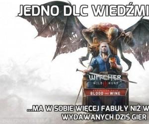 Jedno DLC Wiedźmina 3...