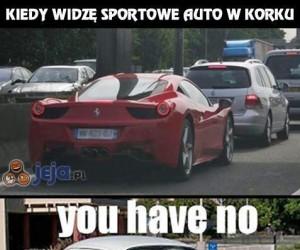 Kiedy widzę sportowe auto w korku