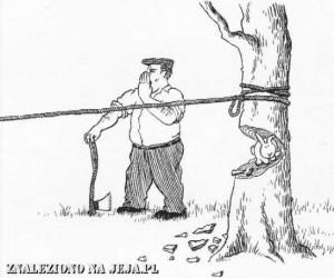 Samobójstwa zajączka: Zajączek i ścinka drzewa