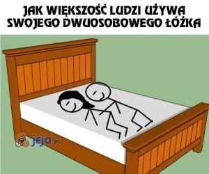 Moje zastosowanie dwuosobowego łóżka