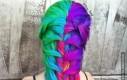 Tęczowa fryzura